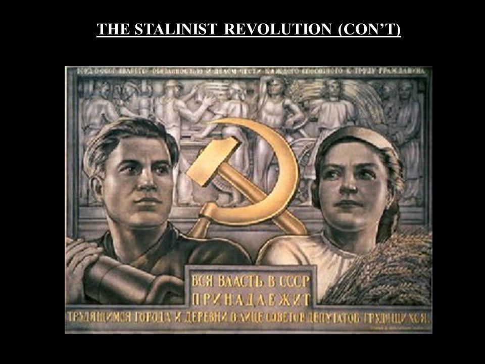 THE STALINIST REVOLUTION (CON'T)