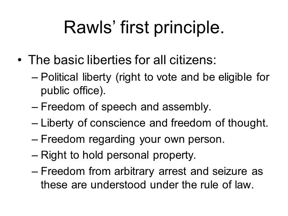 Rawls' first principle.