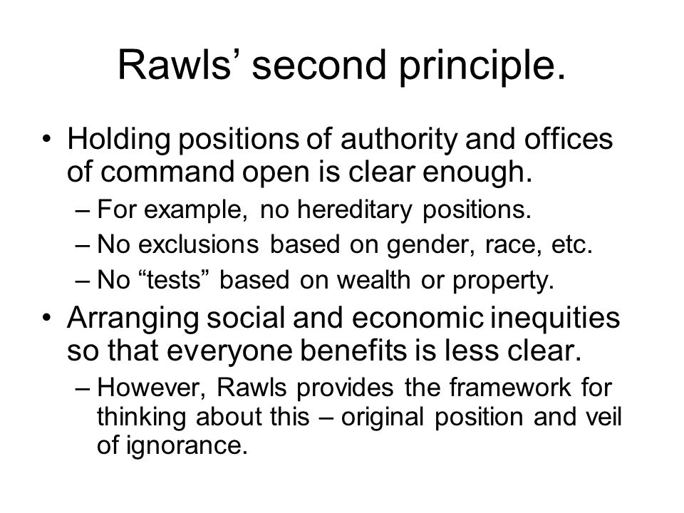 Rawls' second principle.