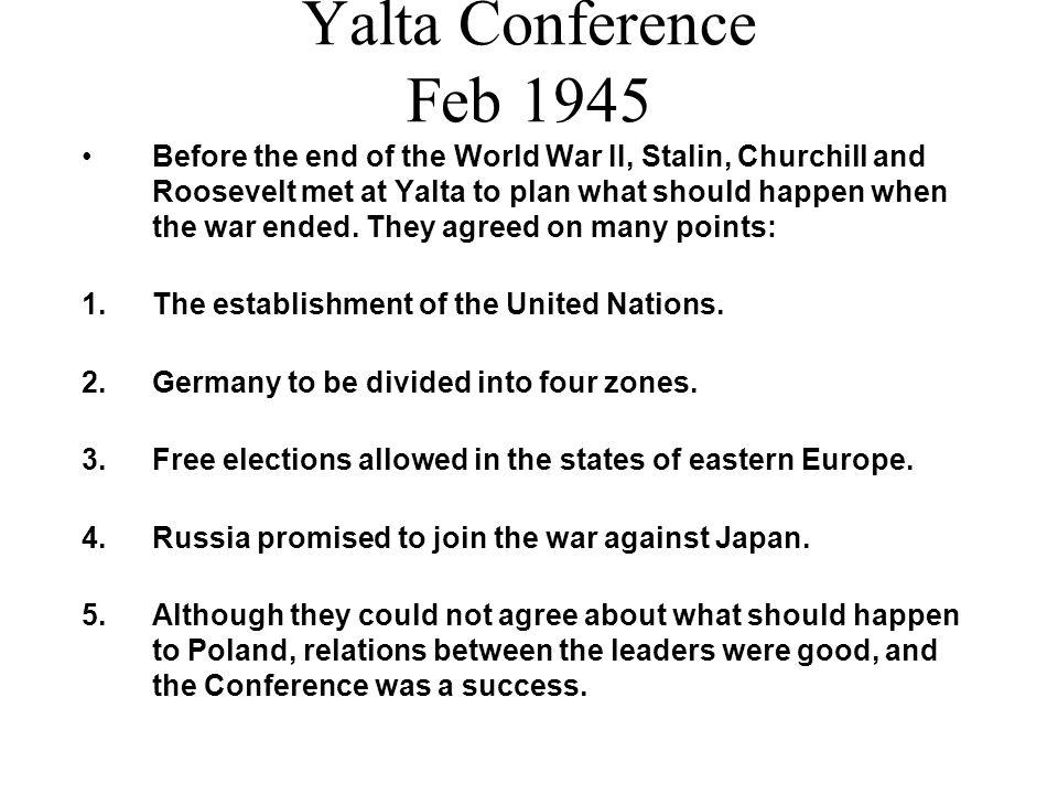 Yalta Conference Feb 1945