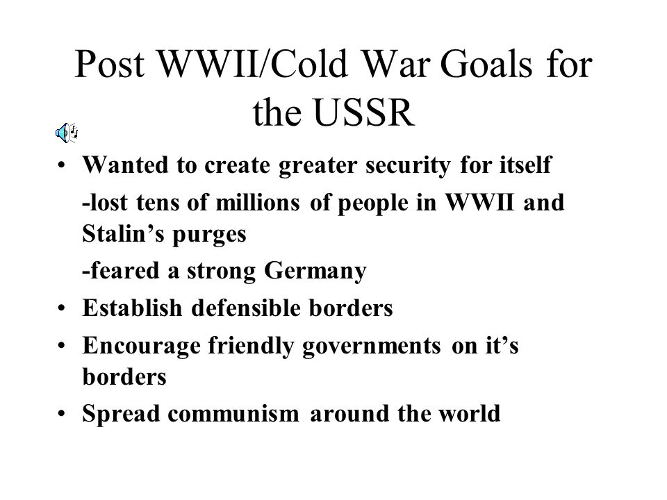 Why was the Wall Built? What did the USSR want?