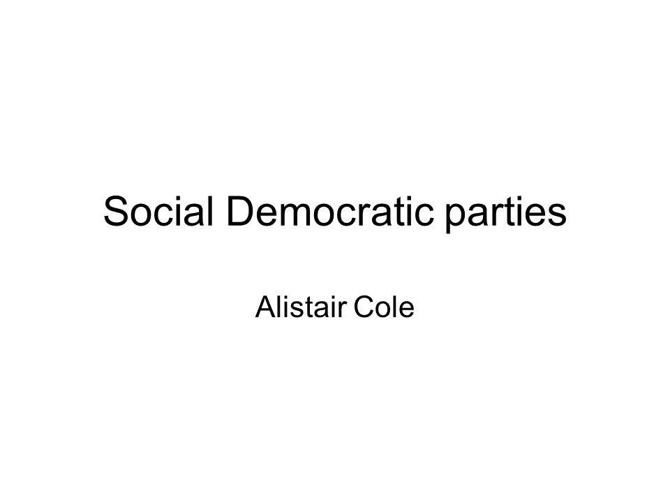 Social Democratic parties Alistair Cole