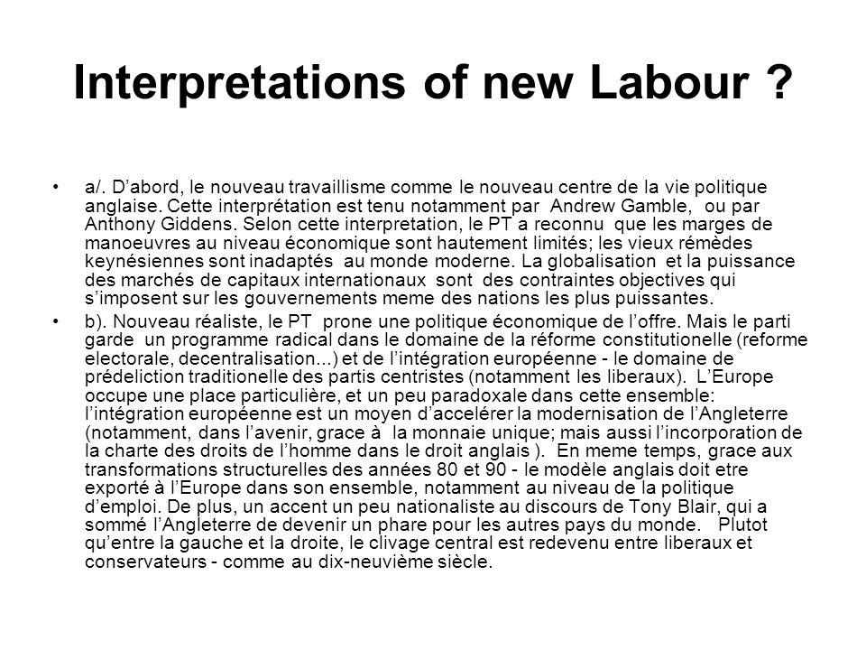 Interpretations of new Labour .a/.