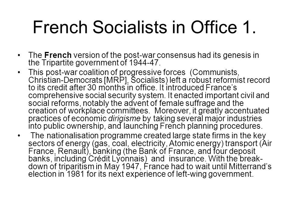 French Socialists in Office 1.