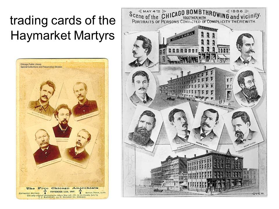 trading cards of the Haymarket Martyrs