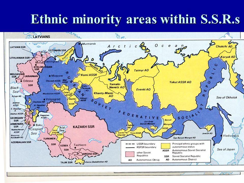 Ethnic minority areas within S.S.R.s