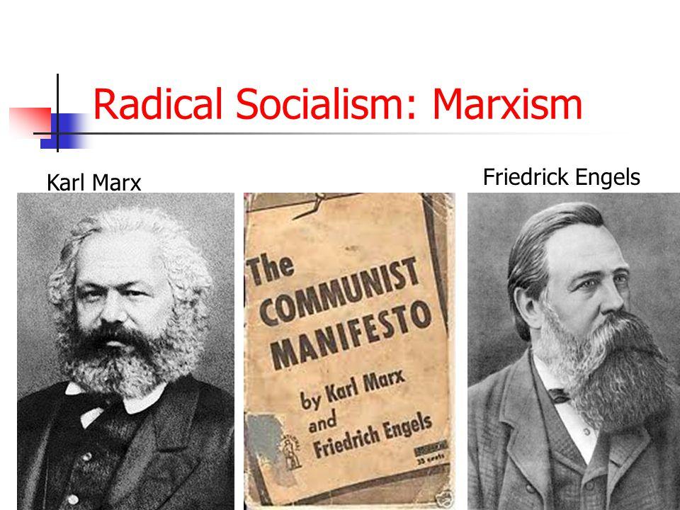 Radical Socialism: Marxism Karl Marx Friedrick Engels