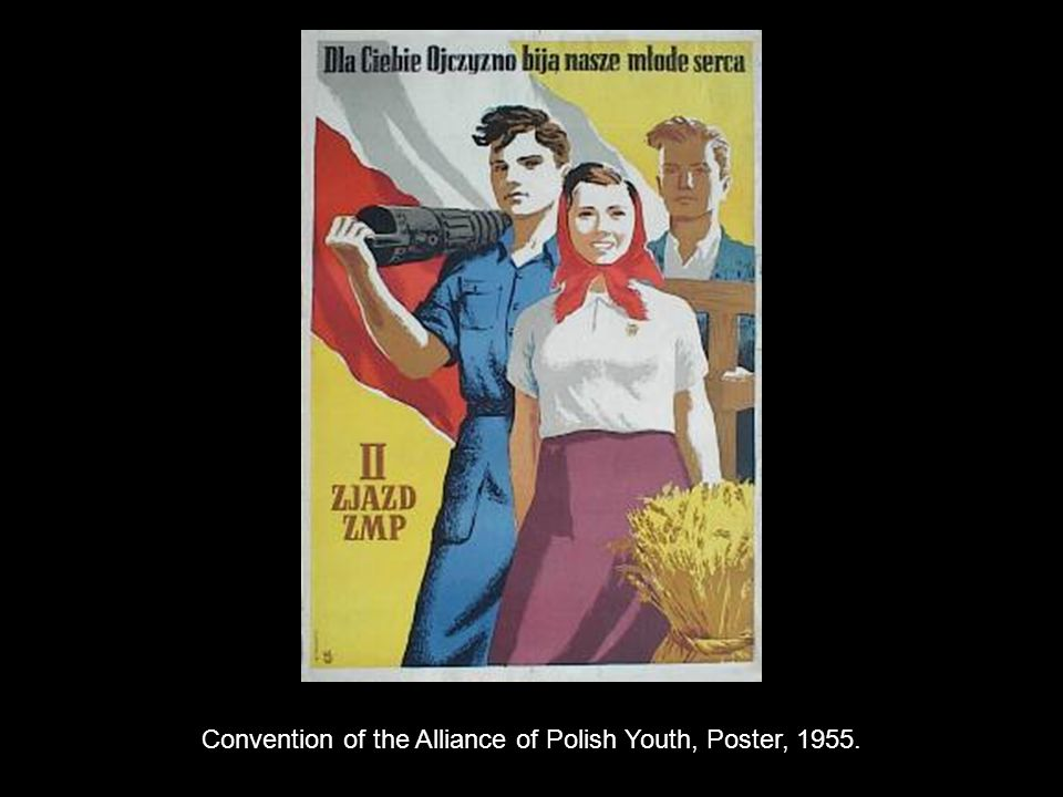 Convention of the Alliance of Polish Youth, Poster, 1955.
