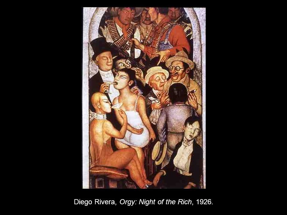 Diego Rivera, Orgy: Night of the Rich, 1926.