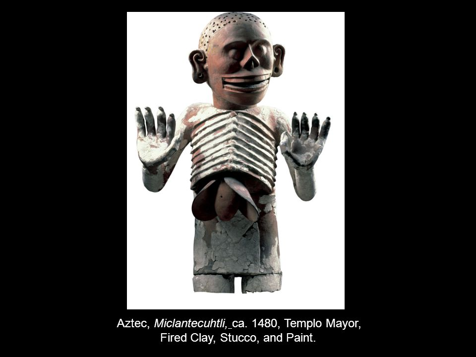Aztec, Miclantecuhtli, ca. 1480, Templo Mayor, Fired Clay, Stucco, and Paint.