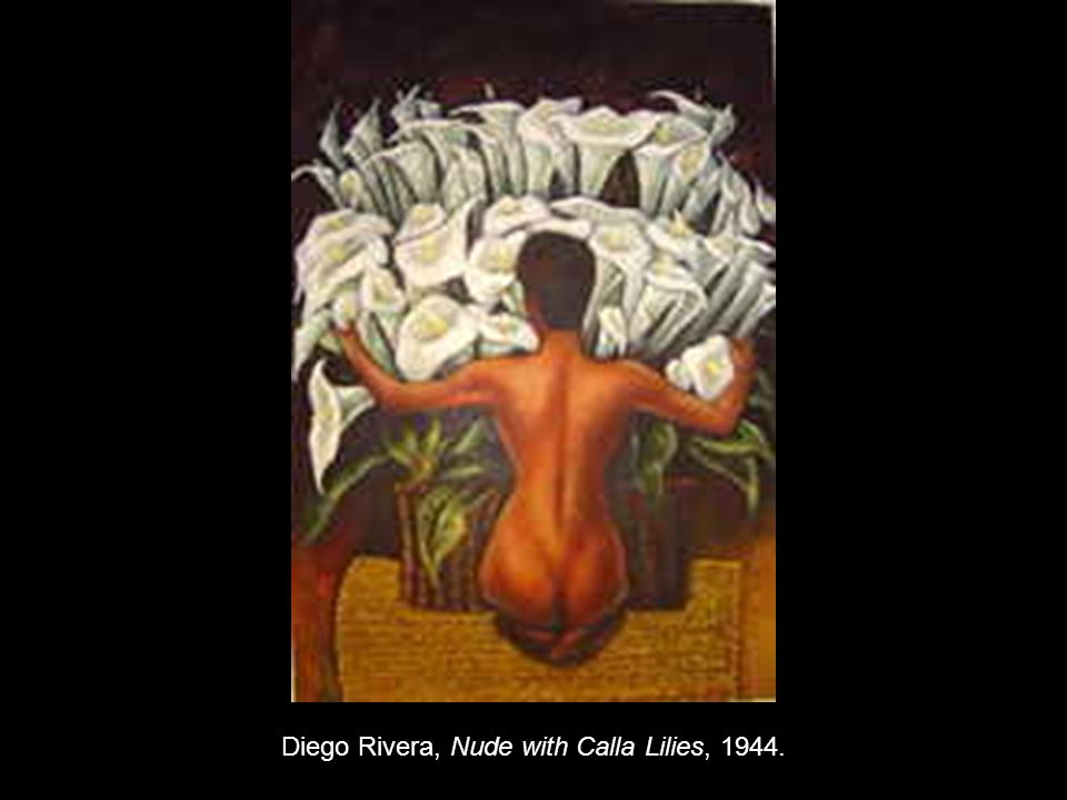Diego Rivera, Nude with Calla Lilies, 1944.