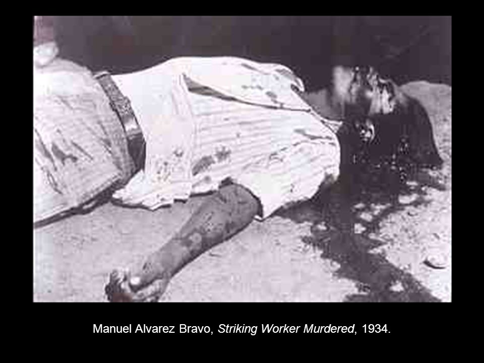 Manuel Alvarez Bravo, Striking Worker Murdered, 1934.