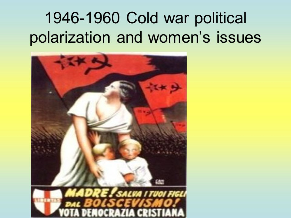 1946-1960 Cold war political polarization and women's issues