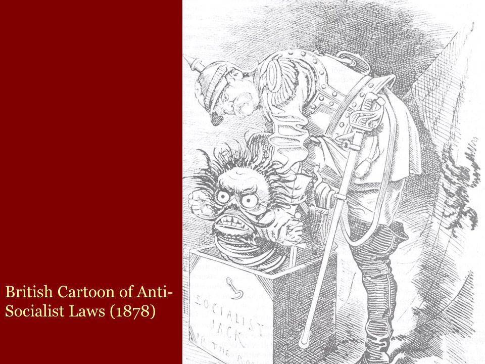 British Cartoon of Anti- Socialist Laws (1878)