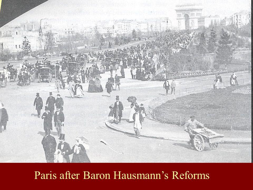Paris after Baron Hausmann's Reforms