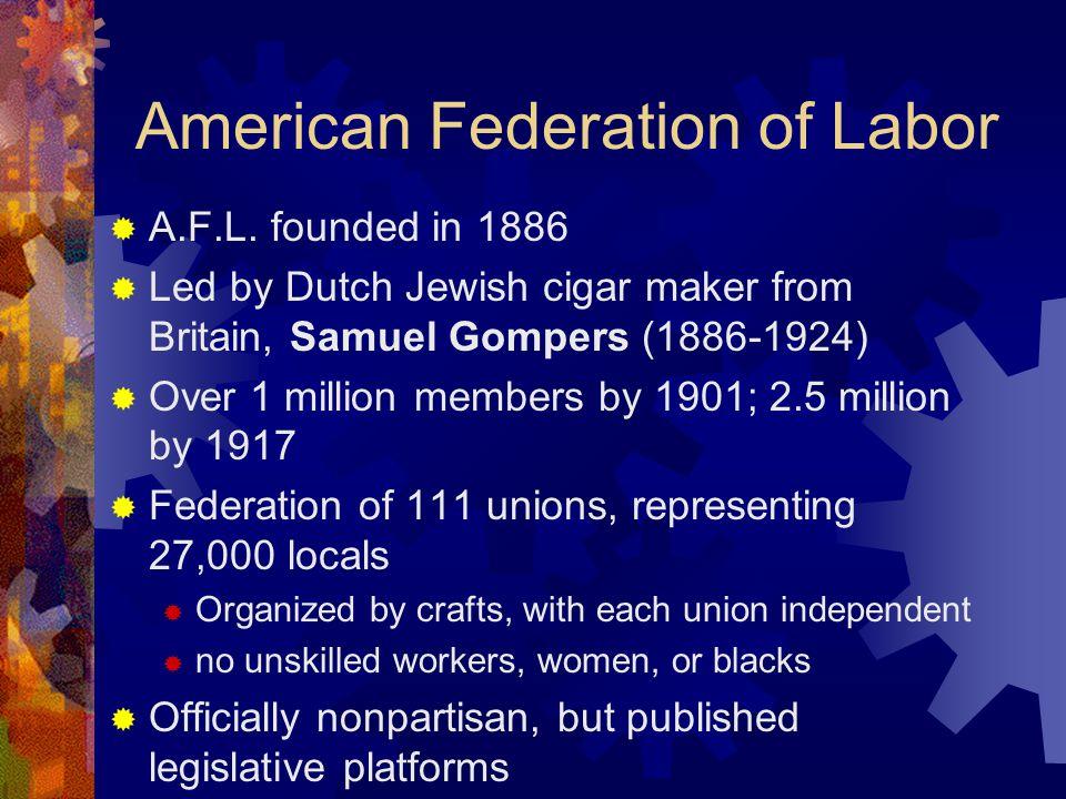 American Federation of Labor  A.F.L.