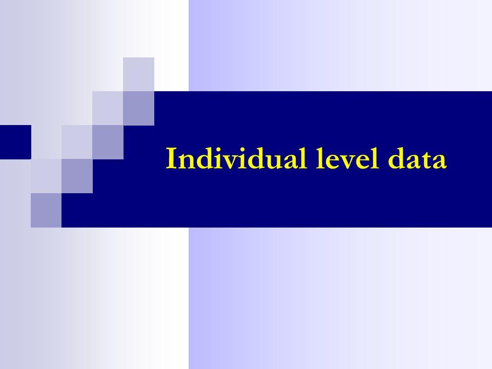 Individual level data