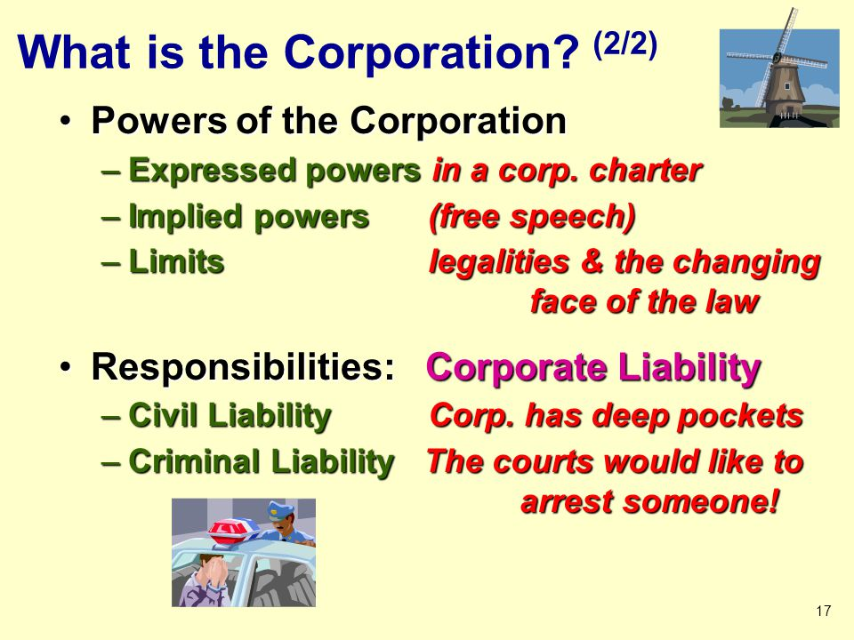 What is the Corporation.