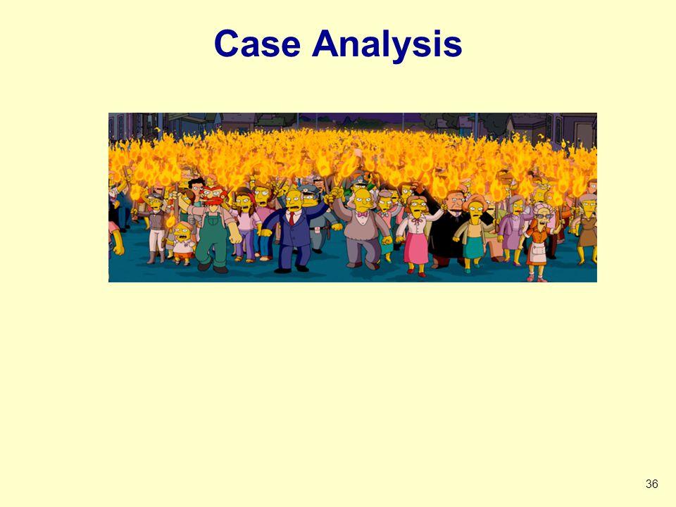 Case Analysis 36 CASE ANALYSIS