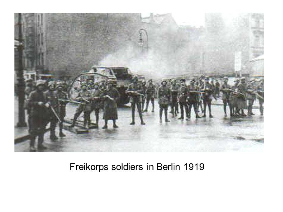 Freikorps soldiers in Berlin 1919