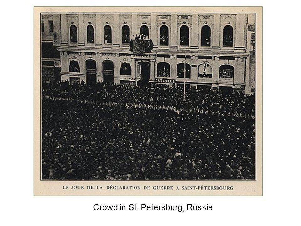 Crowd in St. Petersburg, Russia