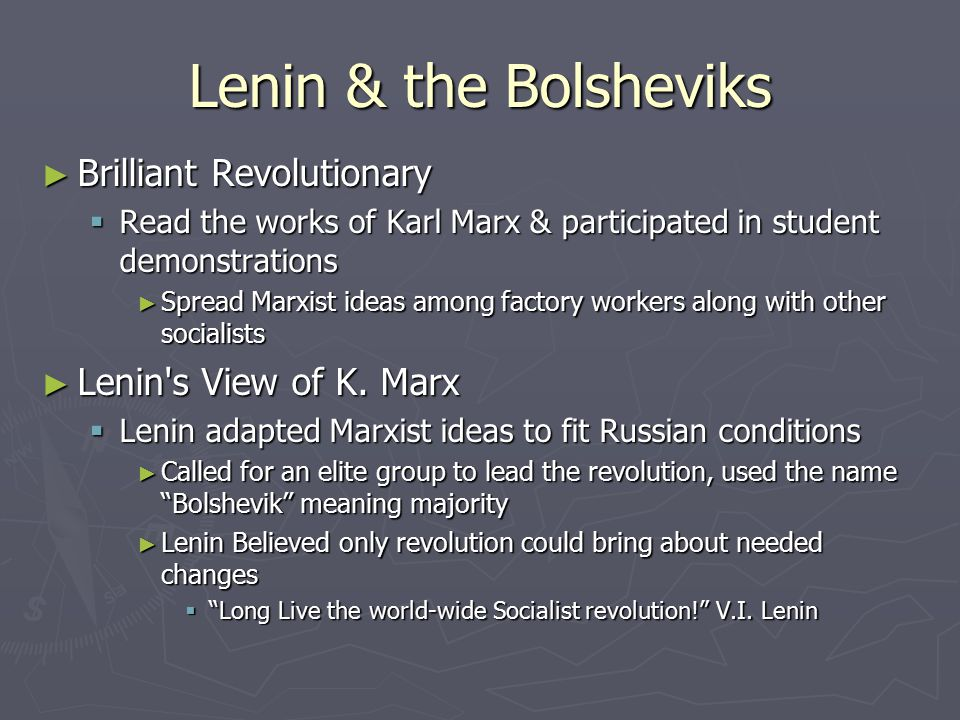Bolsheviks Rise to Power ► Provisional govt's mistakes  Led by A.