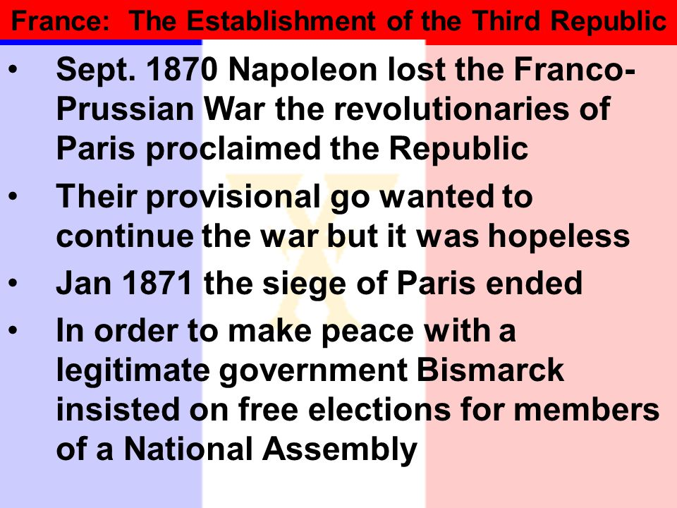 France: The Establishment of the Third Republic Sept.