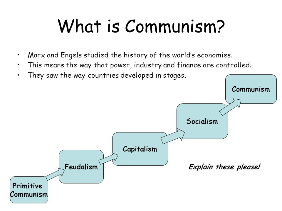 What is Communism.Marx and Engels studied the history of the world's economies.