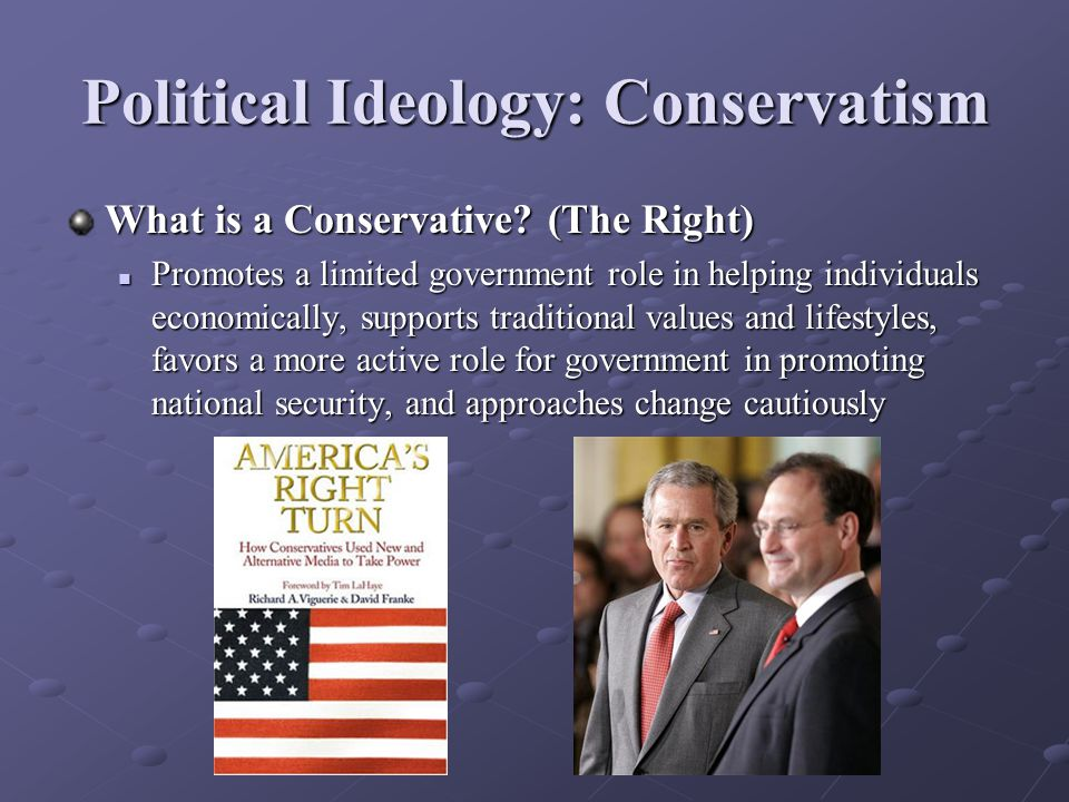 Political Ideology: Conservatism What is a Conservative.