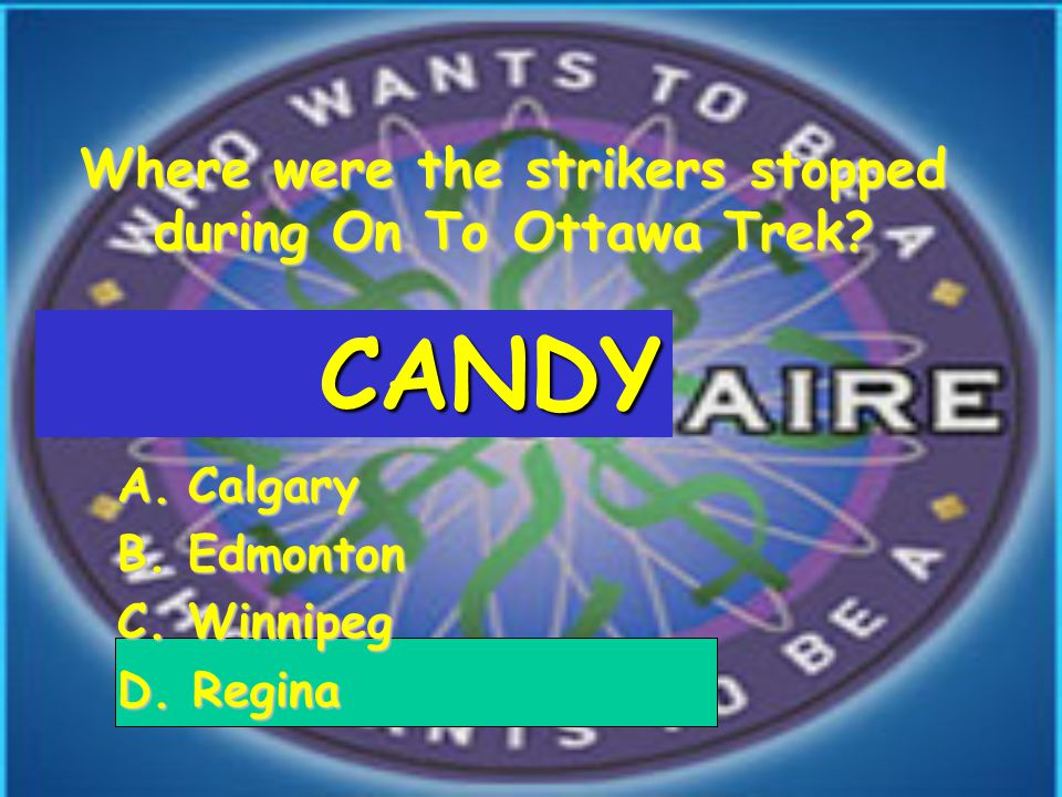 Where were the strikers stopped during On To Ottawa Trek.