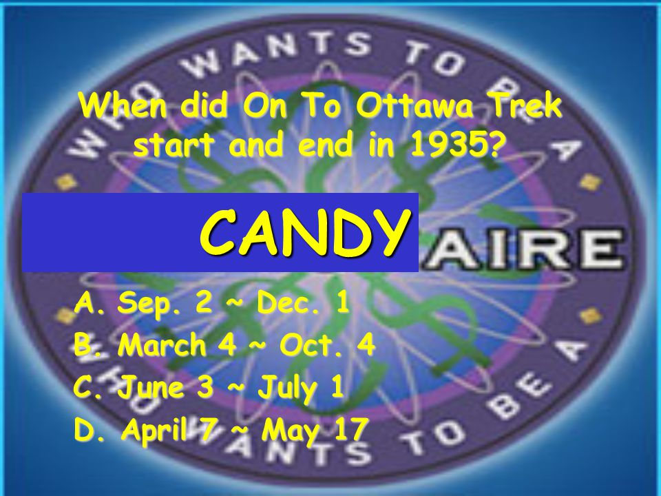 When did On To Ottawa Trek start and end in 1935. A.Sep.