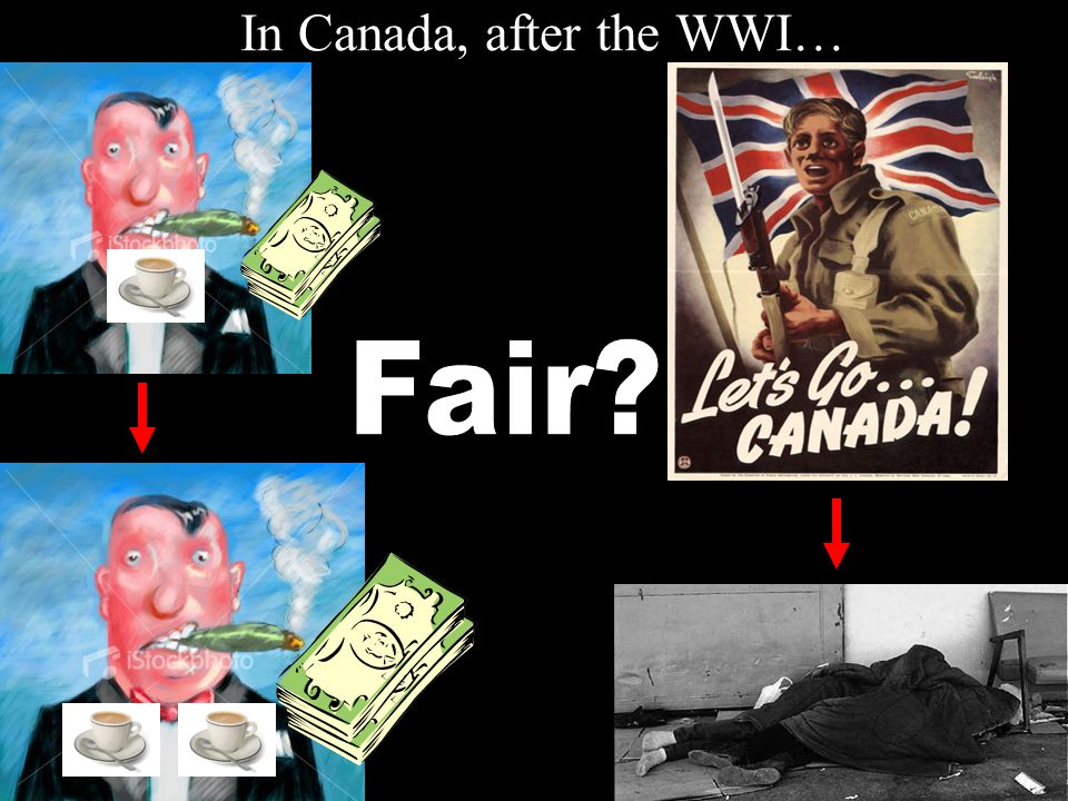 In Canada, after the WWI…