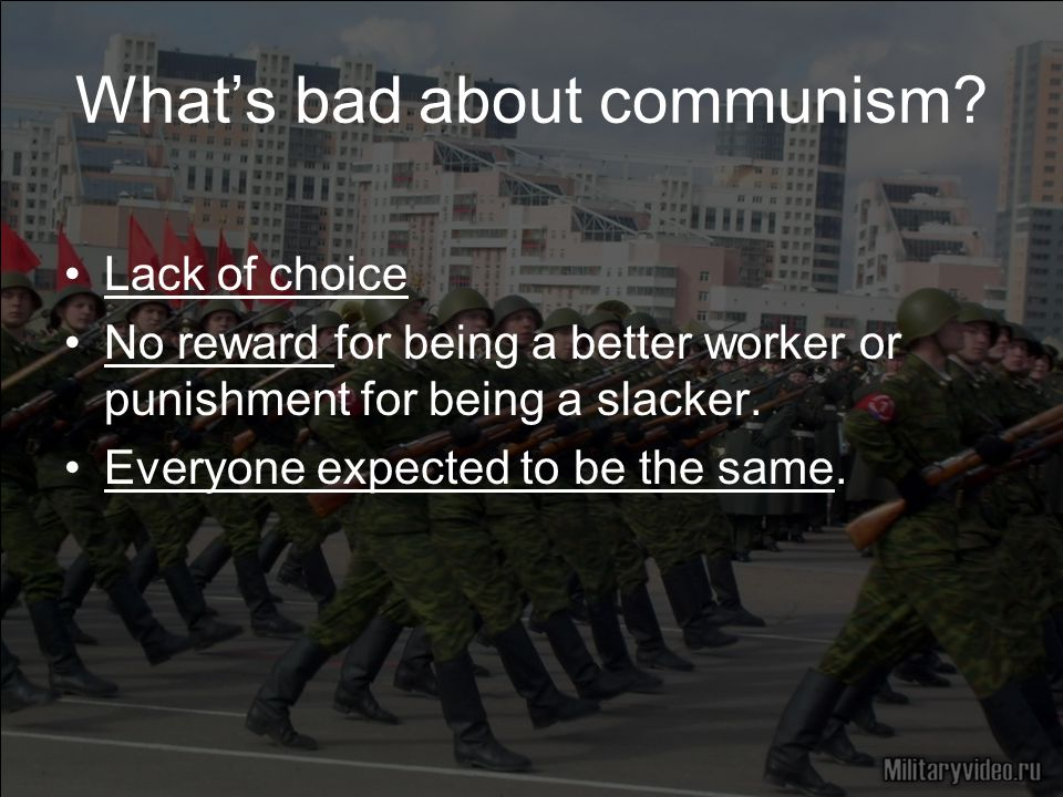 What's bad about communism.