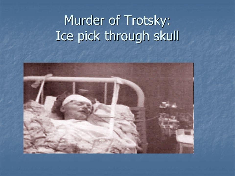 Murder of Trotsky: Ice pick through skull