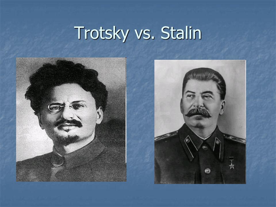 Trotsky vs. Stalin