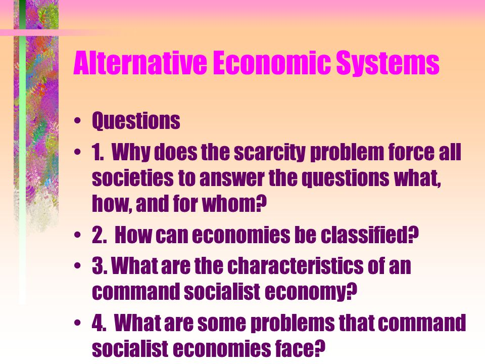 Alternative Economic Systems Learning Plan 4
