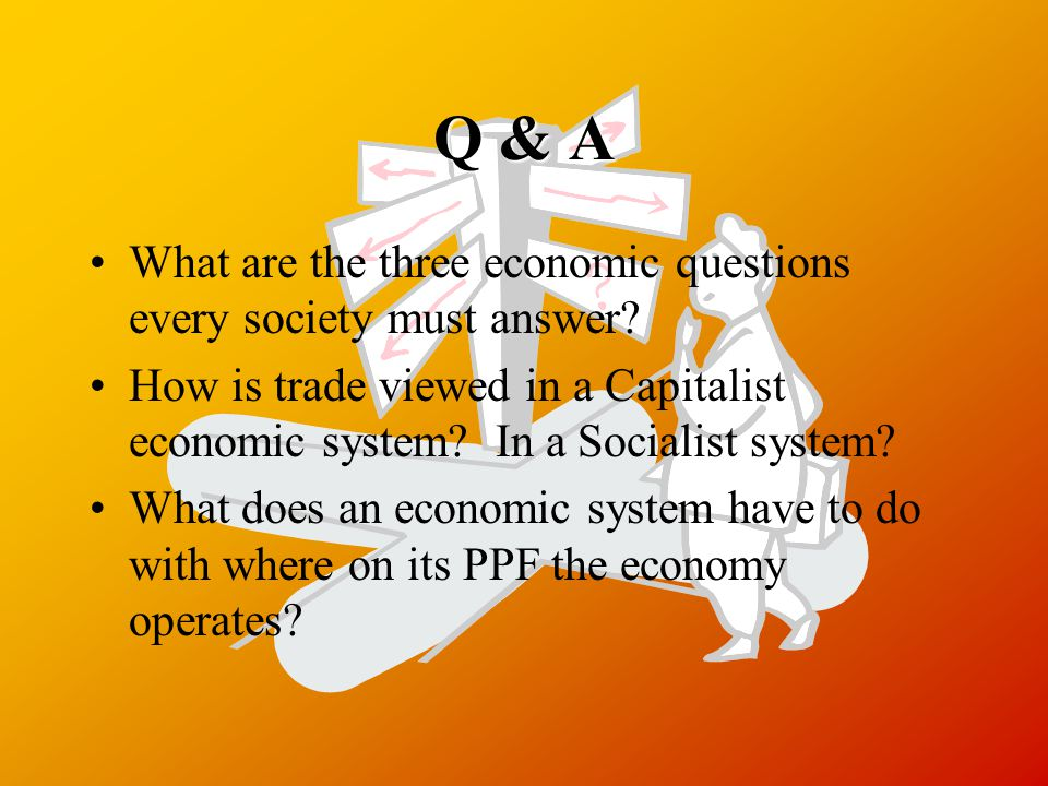 Q & A What are the three economic questions every society must answer.