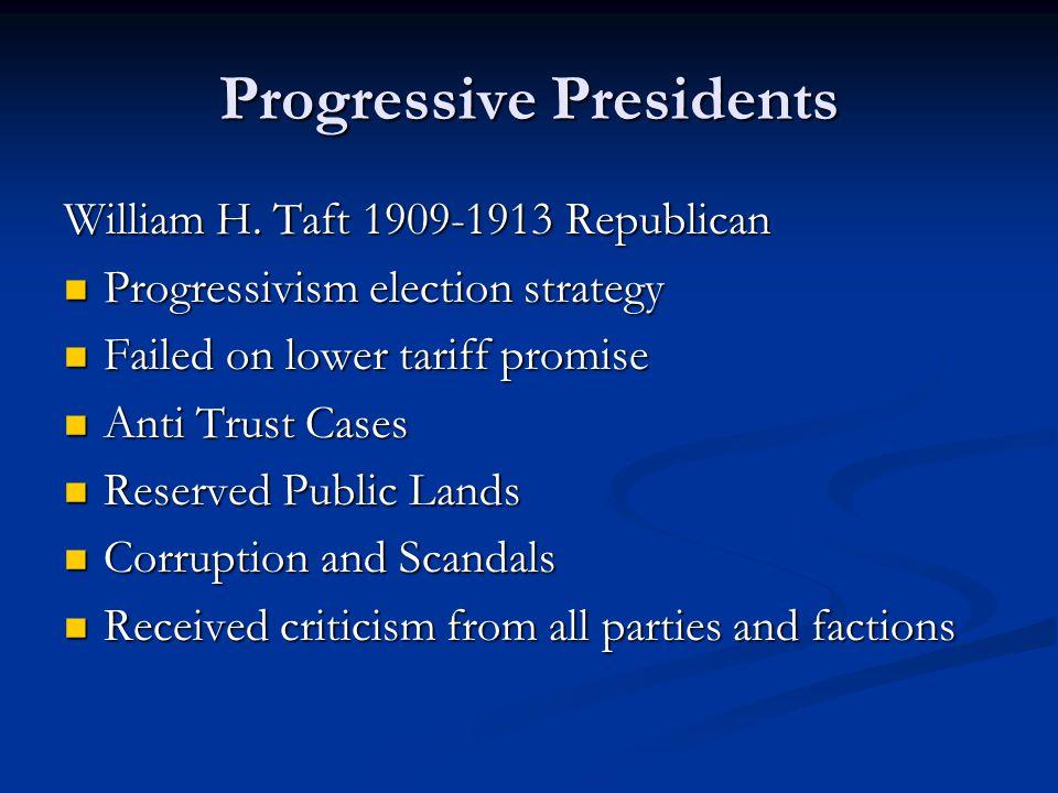 Progressive Presidents William H.