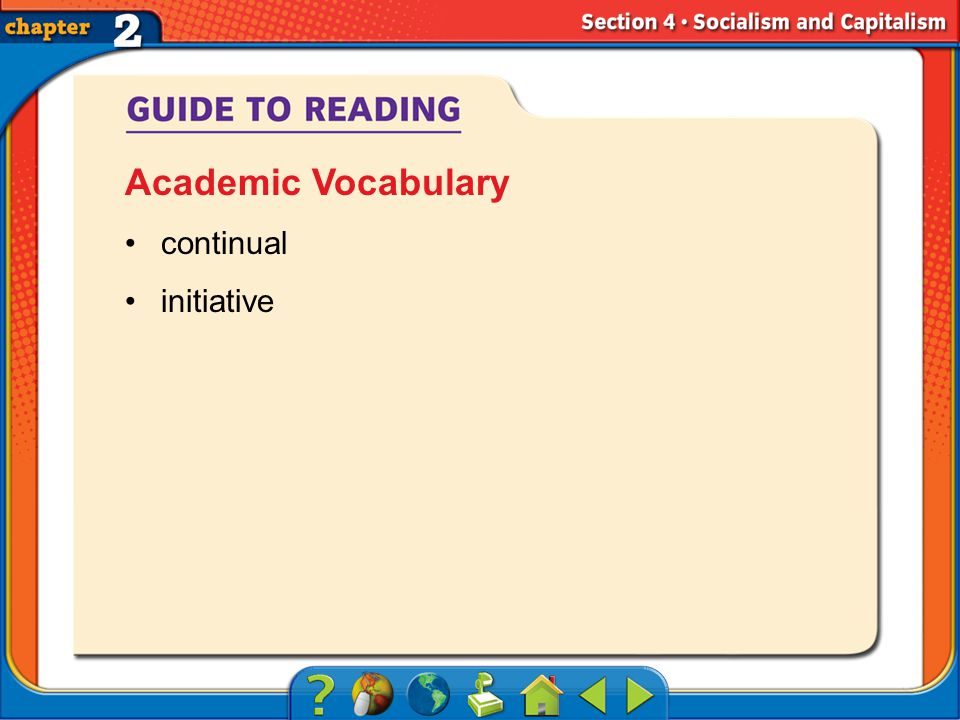 Section 4-Objectives continual initiative Academic Vocabulary