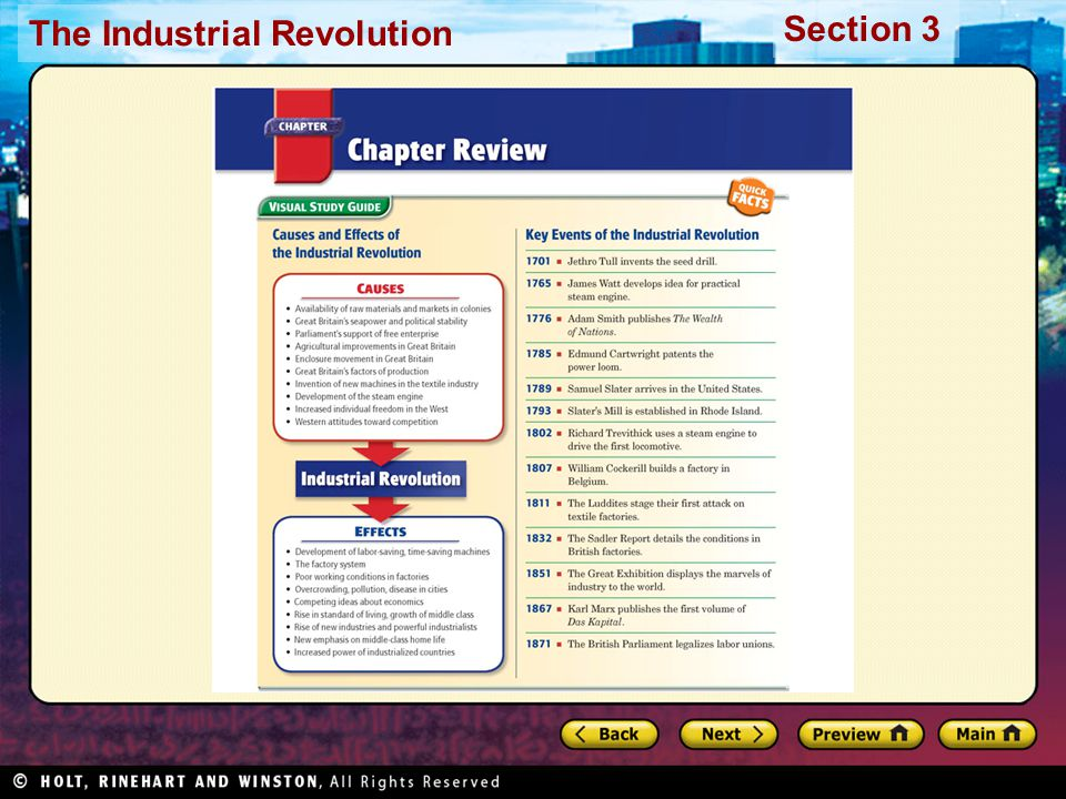 Section 3 The Industrial Revolution