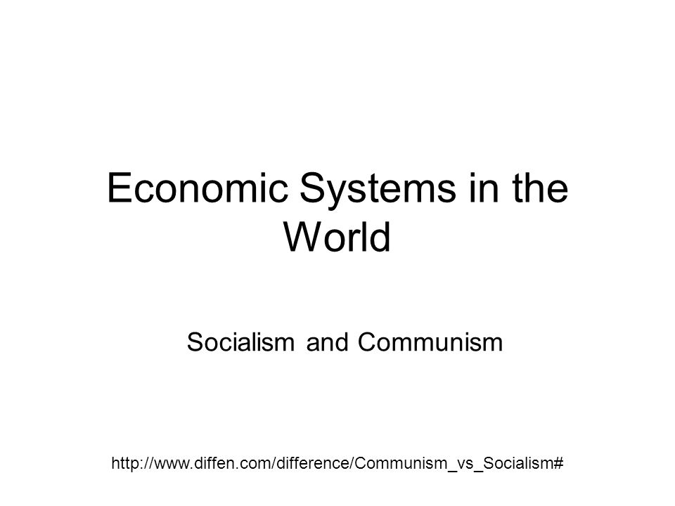 Key Elements Communism An enhanced form of the principle of Production for use .