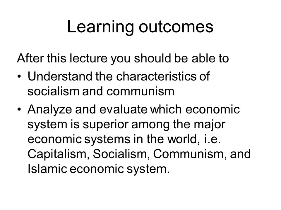 Social Structure Communism All class distinctions are eliminated.