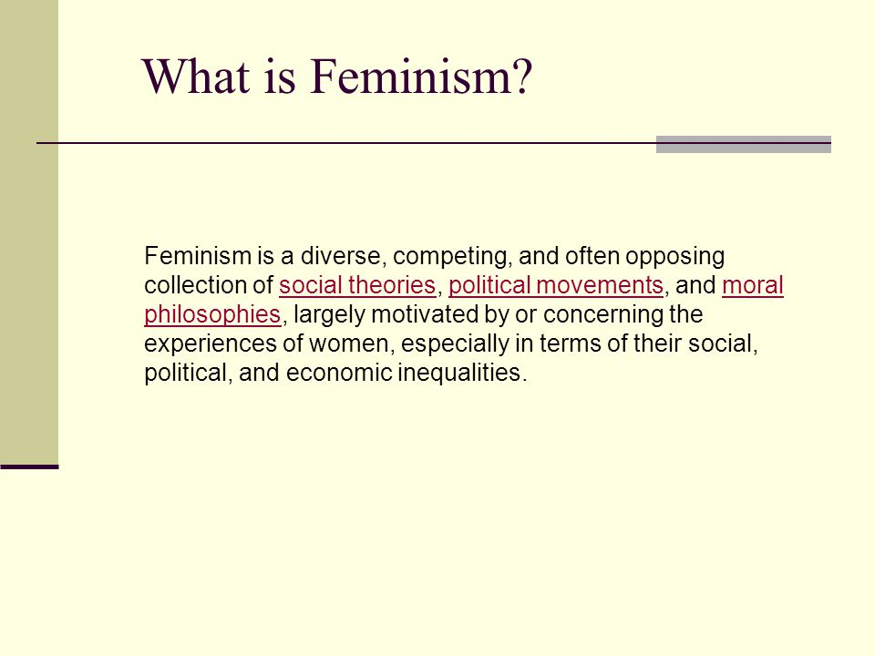 Assumptions about Human Nature We exist in a political and social system that is male dominated: Patriarchy In order for women to experience changes in personal lives, political changes (to social institutions) must occur Gender schemas/sex-role stereotypes limit development In society, men have more power than women Women are taught to rely on men
