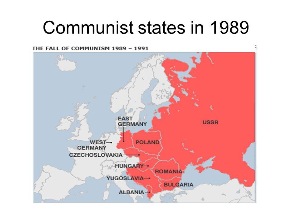 Communist states in 1989