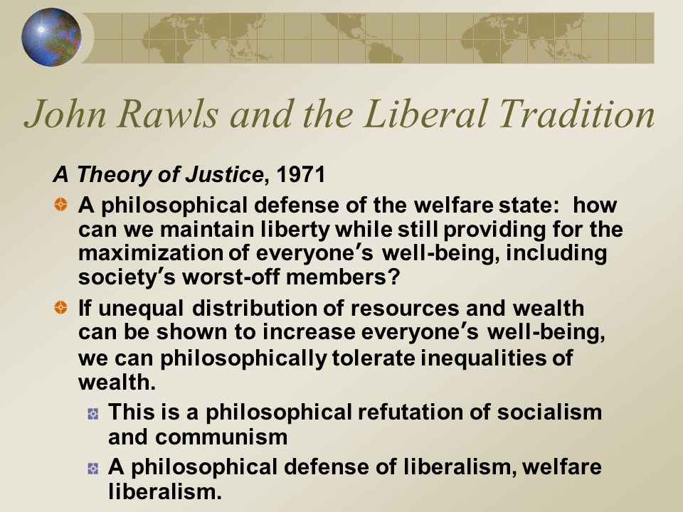The Response from the Right: Neoclassical Liberalism Nozick, Hayek, and Friedman were twentieth century classical liberals who felt that redistribution of wealth through taxes or subsidies reduced incentives People would not be motivated to take risks and create wealth if the advantages to risk taking were minimized by high taxes – or by subsidies to less successful ventures.