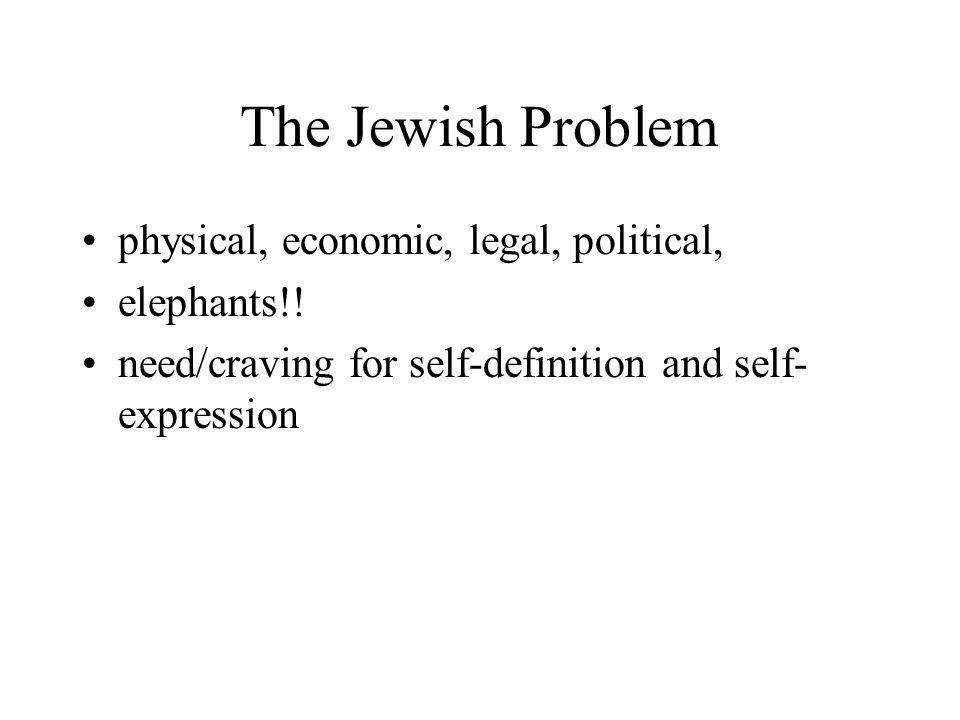 The Jewish Problem physical, economic, legal, political, elephants!.