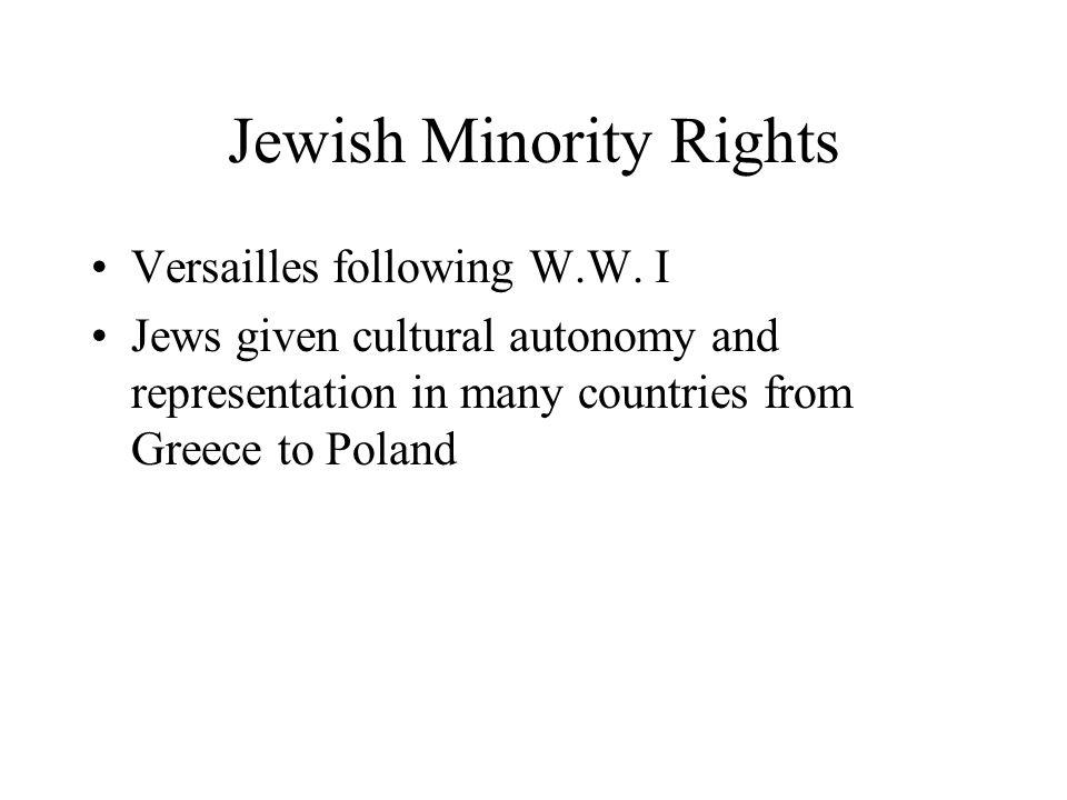 Jewish Minority Rights Versailles following W.W.