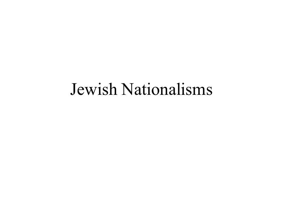 Jewish Nationalisms