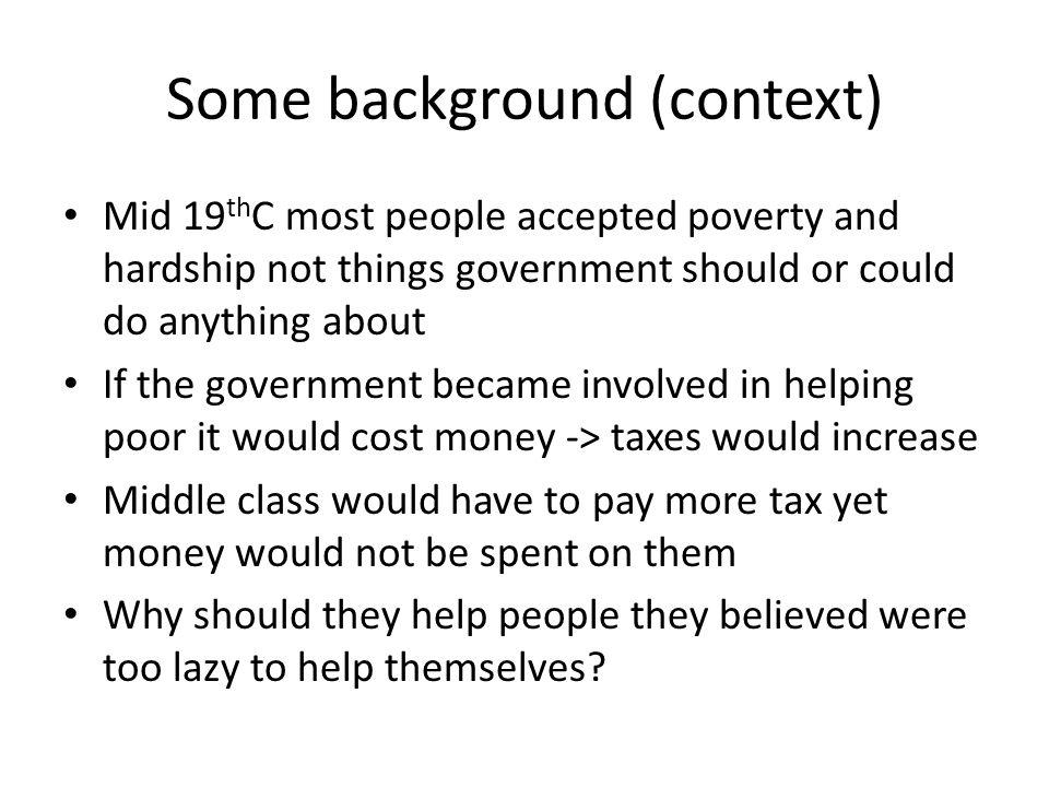 19 th Century Attitudes to Poverty.