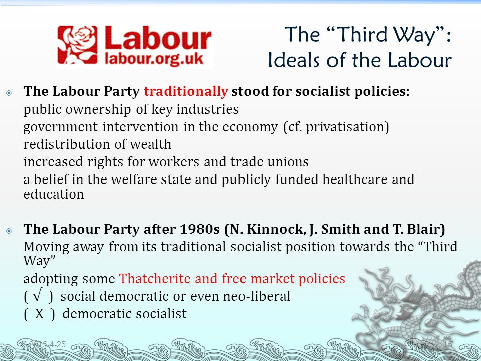 Today (2) The Labour: Party in power 1.